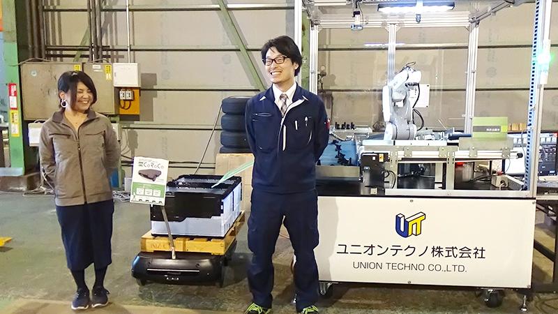 笑顔の澤井社長とSEEDsメンバー
